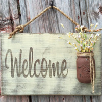 Rustic Outdoor Home Sweet Home  -Wood Signs - Front Door Sign - Rustic Home Decor - Wedding Gift - Home Decor - Custom Sign