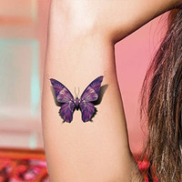 TAFLY 5Sheets Sexy Colorful Butterfly Waterproof Temporary Tattoo Sticker Water Transfer