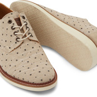NATURAL DOTS CHAMBRAY MEN'S BROGUES