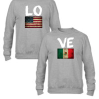 american mexican flag love design