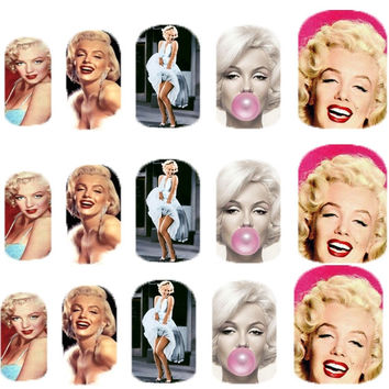 Marilyn Monroe  - Nail Art - Nail Decals