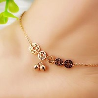 Sexy Ladies Jewelry Shiny Gift Cute New Arrival Korean Stylish Bells Titanium Anklet [8169867399]