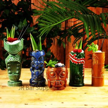 Ceramic Tiki Mugs for Home Bar and Decor (Collection 1)