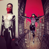 Silk Spider morph suit Silk Cindy Moon Spider Costume Female/Woman/Girl Spiderman Cosplay Halloween Costume