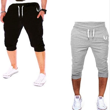 Men Printed Fashion Shorts Sports Running Hip Hop Trousers [8833445196]