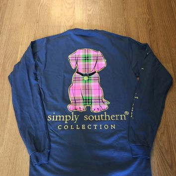 Preppy Puppy Long Sleeve Tee
