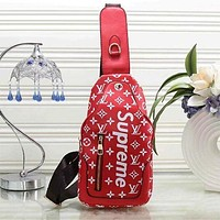 Louis Vuitton x Supreme Female Stylish Backpack F red
