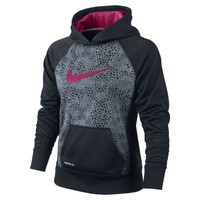 Nike Printed Pullover Girls' Training Hoodie - Black