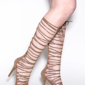 Perfect Alignment Lace-Up Heels
