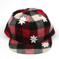 Mark McNairy New Amsterdam — BUFFALO PLAID WOOL CINCH BACK DAISY CAP