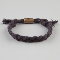 Rastaclat Braided Hemp Bracelet Black One Size For Men 23149110001