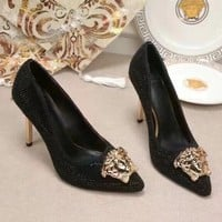 Versace Women Fashion Casual Pointed Toe High Heels Shoes-1