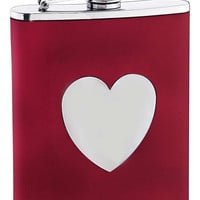 Visol True Love Red Leather Liquor Flask - 6 oz 202