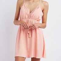 CROCHET-TRIM BABYDOLL DRESS