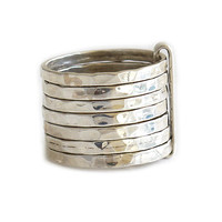 "Sterling Silver Ring | ""Semanario Corrugado"" 