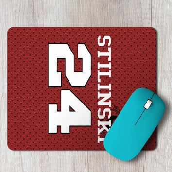 Rectangle Mouse Pad Teen Wolf Stilinski 24  Lacrosse Jersey Beacon Hills Alpha Inspired,Iin