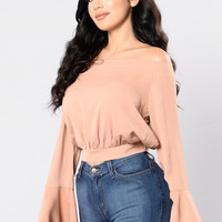 Fun and Flirty Top - Mocha