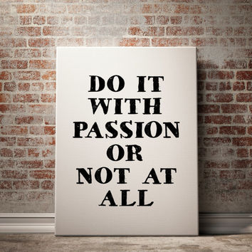 Do It With Passion Poster Quote Art Inspirational Quote Motivational Print Scandinavian Design Fitness Motivation Word Art INSTANT DOWNLOAD