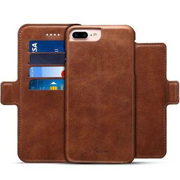 CREYV2S Wallet Magnetic Phone Case PU Leather Kickstand Protective Flip Cover for Iphone 6/6plus/7/7plus