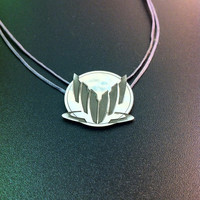 Sterling silver mass effect pendant-  Normady silver pendant- geeky jewelry- statement jewelry- gamers gifts