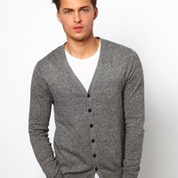 ASOS Cardigan In Cotton - Black twist