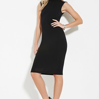 Mock-Neck Bodycon Dress