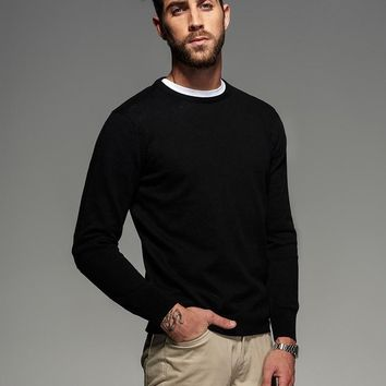 Knitted Classic Mens Knit Pullover with Vintage Patch Elbows! Up to 3X