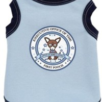 First Pooch Tank in Blue - Shop By Designer - Ruff Ruff Couture Posh Puppy Boutique