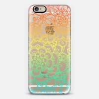 Rainbow Transparent Floral Doodle iPhone 6 case by Micklyn Le Feuvre | Casetify