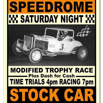 Comstock Park Speedrome Motor Speedway Reproduction Sign 12″x18″