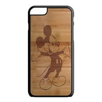 Mickey Mouse Wooden iPhone 6 Plus Case