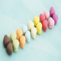 french macaron hearts stud earrings