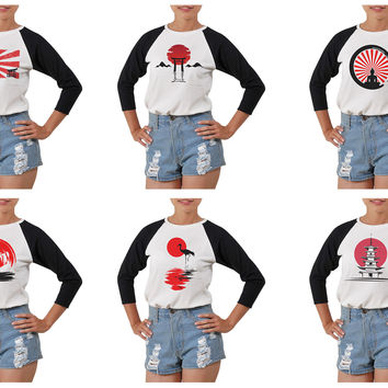 Women's Japan culture-1 Printed Elbow Sleeves T- Shirt WTS_03