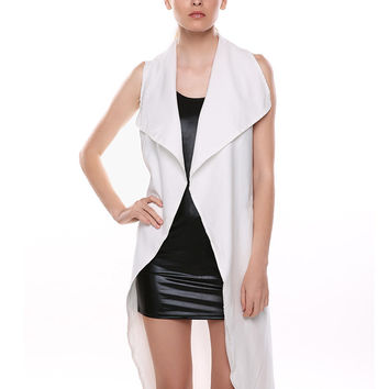 Sleeveless Thin Trench Coat with Belt