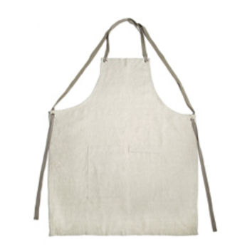 Linen Cross-Back Apron (Natural)