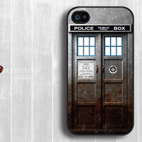 Doctor Who Tardis iphone case iphone 4s case iphone 4 cover iphone case metal style Police Box iPhone case design
