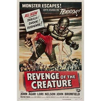 REVENGE of the CREATURE classic movie poster SCI-FI THRILLER monster 24X36