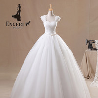 Vestidos De Novia Lace Up Back Wedding Dress Sexy Sweetheart Handmade Rose Flowers Strap Elegant Princess Tulle Bride Ball Gown