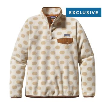 Patagonia Women's Synchilla® Recycled Fleece Lightweight Snap-T® Pullover | Pop Dots: El Cap Khaki