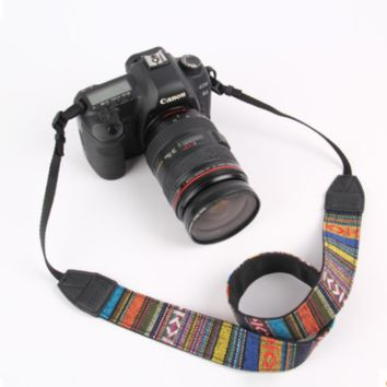 Camera Straps Retro Vintage VNS Soft Multi-color Neck Strap for Canon Fuji Nikon Olympus Panasonic Pentax Sony Cameras