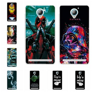 "Deadpool Dead pool Taco Charming  Cases Coque For Lenovo Vibe C2 iron Man Soft Silicone Phone Case For Lenovo C2 Power K10a40 Back Cover Capa 5"" AT_70_6"