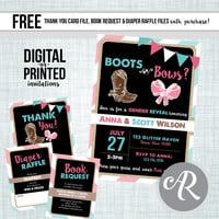 Boots or Bows Gender Reveal Invitation