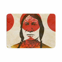 "Ivan Joh ""Indian"" Red Beige Memory Foam Bath Mat"