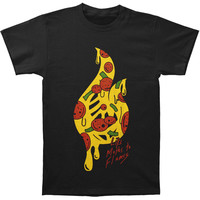 Like Moths To Flames Men's  Pizza T-shirt Black Rockabilia