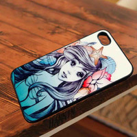 beautiful ariel mermaid  - for iPhone 4/4S,5 case iphone 4/4s/5 Case Hard Plastic Cover