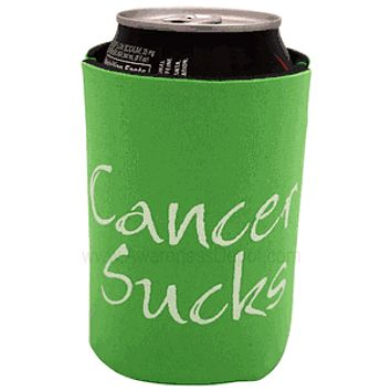 Green Cancer Sucks Can Holder