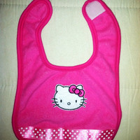 Pink Hello Kitty Baby Girl Bib, Baby Girl Bib