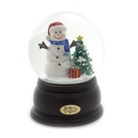 Old World Christmas HAPPY SNOWMAN SNOW GLOBE Glass Waterball Tree Present 54002