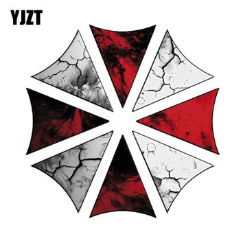 YJZT 15CM*15CM Funny UMBRELLA CORPORATION RESIDENT EVIL Car Sticker Reflective Motorcycle Parts C1-7531