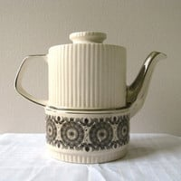 Vintage Coffee Pot Gibsons 50s Art Deco Fluted by pillowsophi
